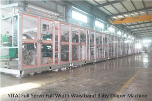 Yitai Full Servo Big Waistband Baby Diaper Machine Running in Islamic Republic of Pakistan