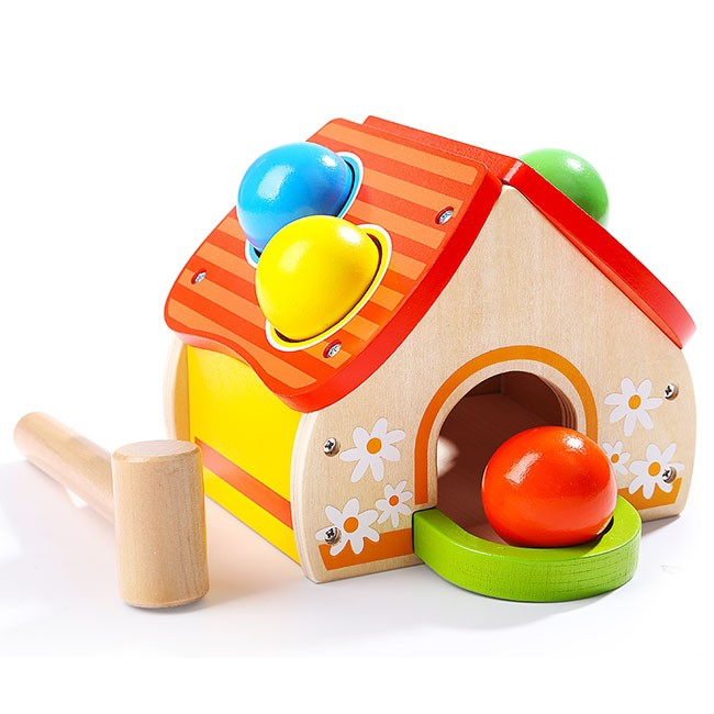 Topbright Kids Wooden House Hammer Pounding Toy