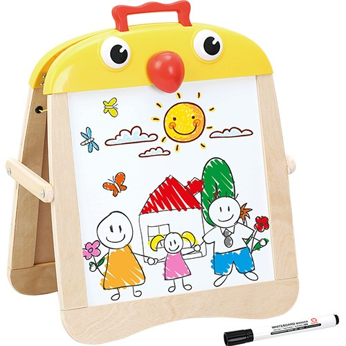 Topbright Portable Wooden Small Chick Chalkboard Easel