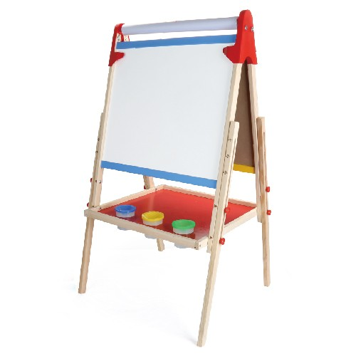 Topbright Double-side Adjustable Wood Chalkboard Easel