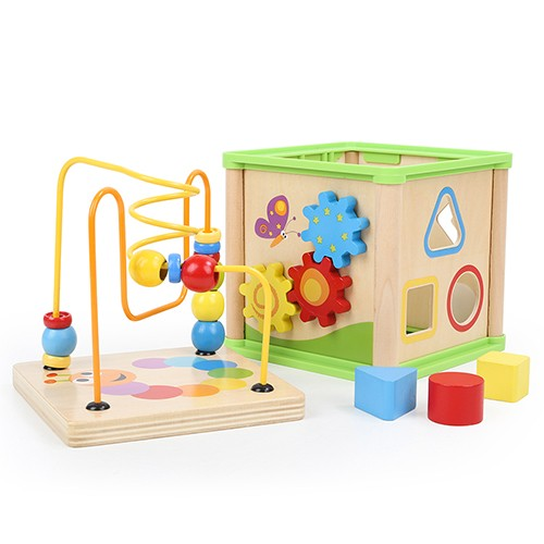 Topbright 5 In 1 Wooden Garden Activity Cube
