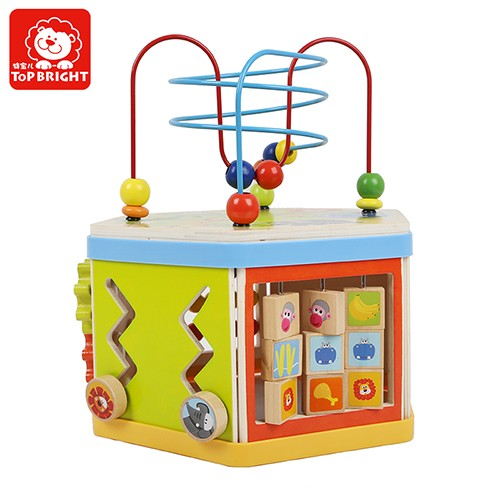 Topbright Goge 7 In 1 Wooden Activity Cube Toy