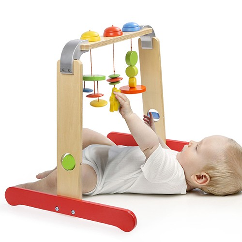 Topbright Newborn Baby Wooden Goge Activity Play Gym