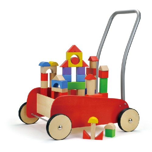 Topbright Pull Along Wooden Baby Walker Toy