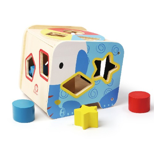 Topbright Educational Wooden Elephant Shape Sorter Toy