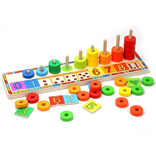 Topbright Educational Rainbow Dounts Count Match Numbers Toy