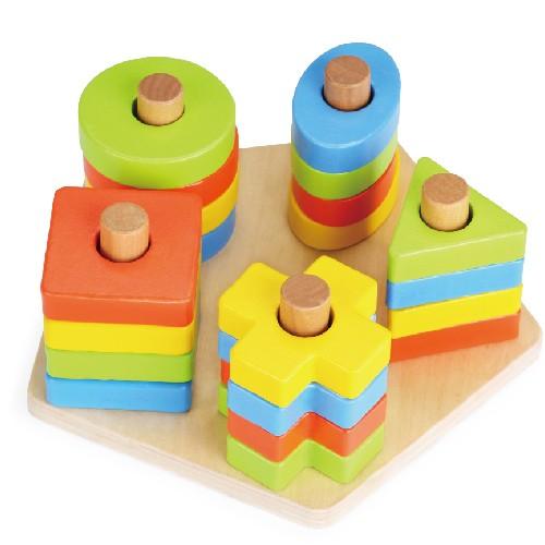 Topbright Educational Geometric Shape Sorter Stacker Board Toys