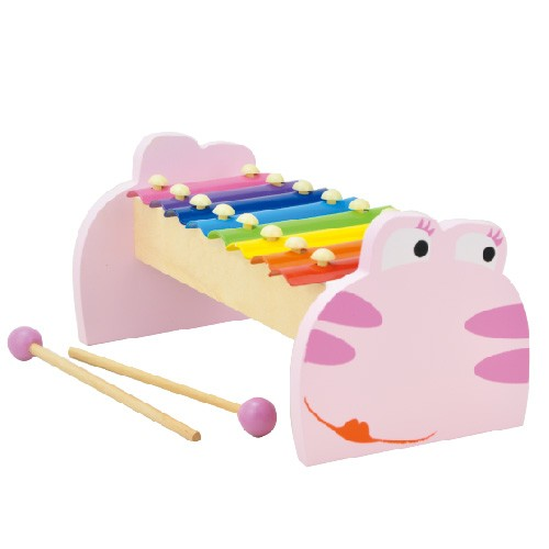 Topbright Frog Xylophone Pink Musical Instrument Set Toy