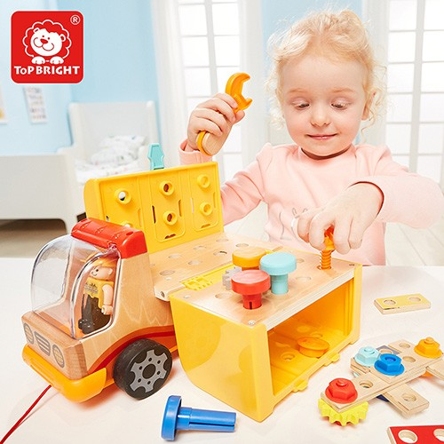 Topbright Wood Pretend Play Foldable Workbench Truck Manufacturers, Topbright Wood Pretend Play Foldable Workbench Truck Factory, Topbright Wood Pretend Play Foldable Workbench Truck