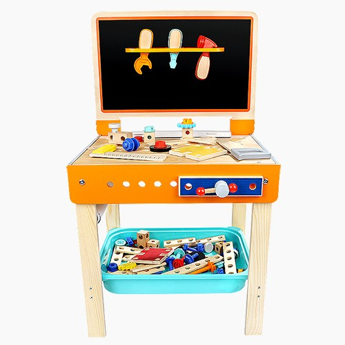 Topbright Pretend Play 2 In 1 Workbench Tool Desk Toys