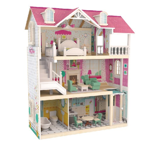 Topbright Pretend Play Wooden Doll House Toy