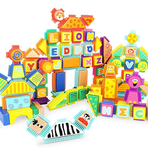 Topbright Bristle Animal Building Blocks Set