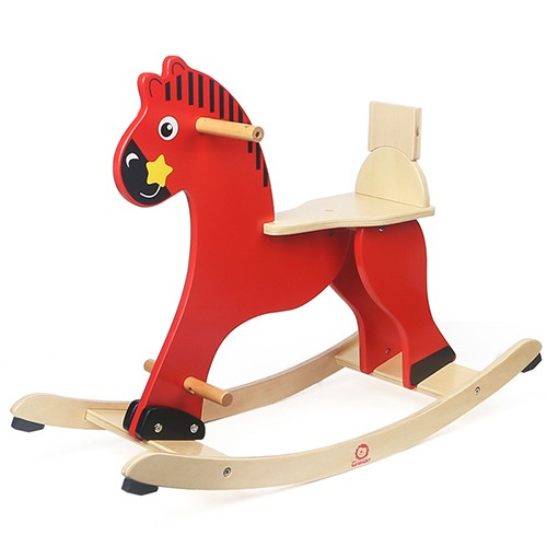 Topbright Wooden Ride On Rocking Horse