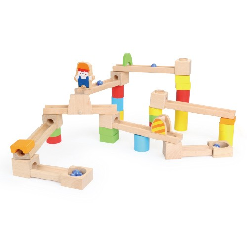 Topbright Interactive Wooden Marble Run Toys