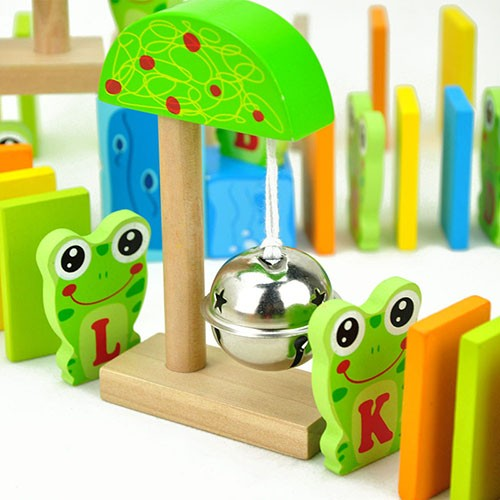 Topbright Wooden Frog Building Blocks Domino Game