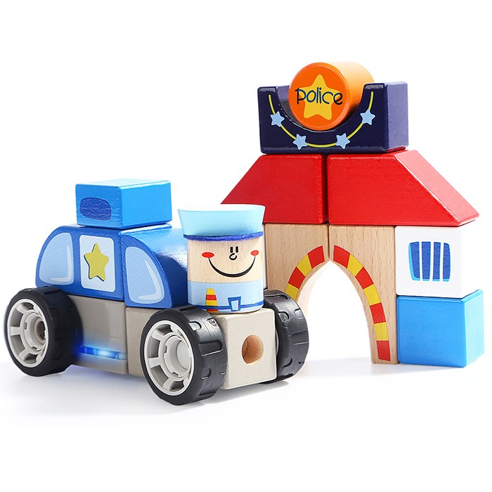 Topbright Creative Police Station Sound Blocks Set