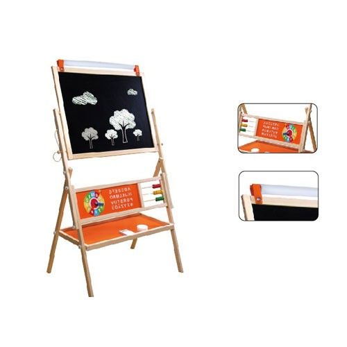 Topbright Single Plate Chalkboard Wood Easel Drawing Toy