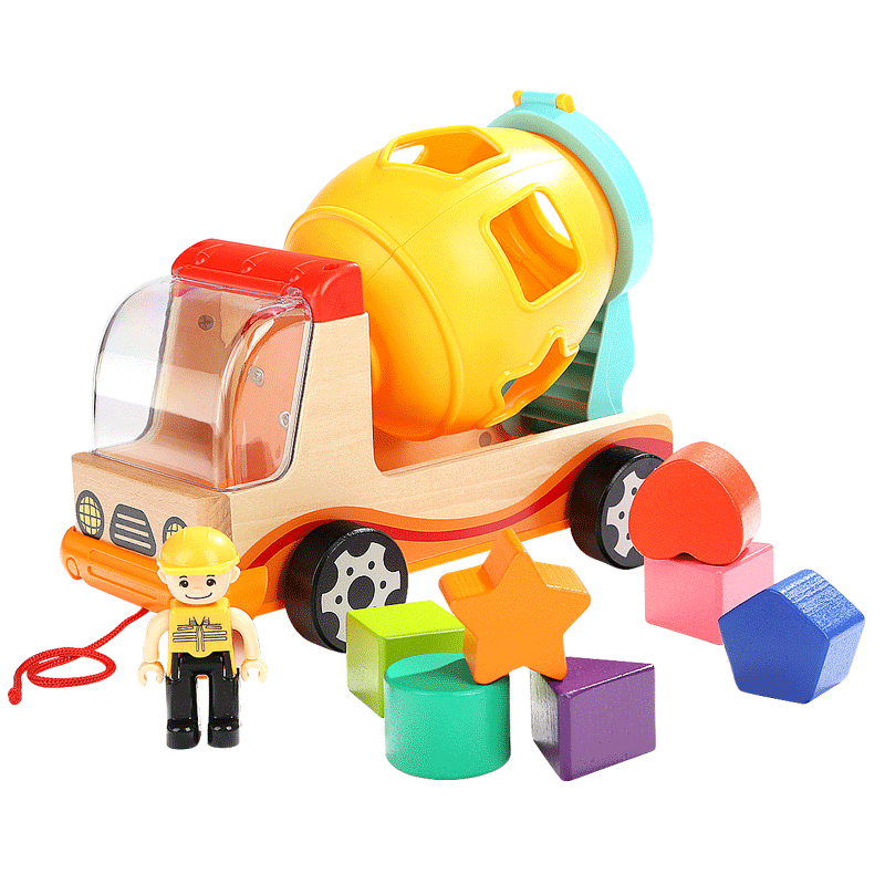 Topbright Child Mixer Truck With Shape Sorter