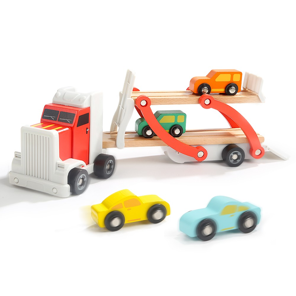 Topbright Kids Wooden Motor Truck Toy