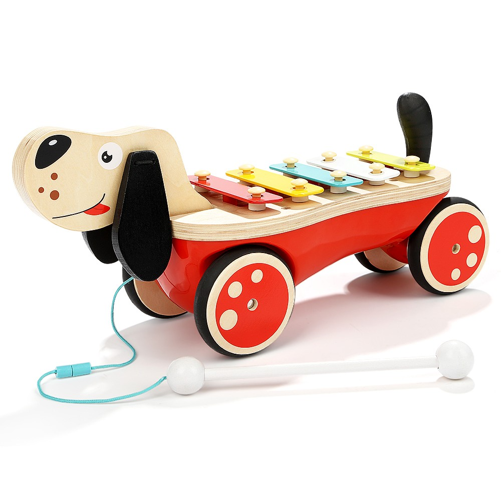 Topbright Puppy Pull-along Xylophone Musical Instruments Toys