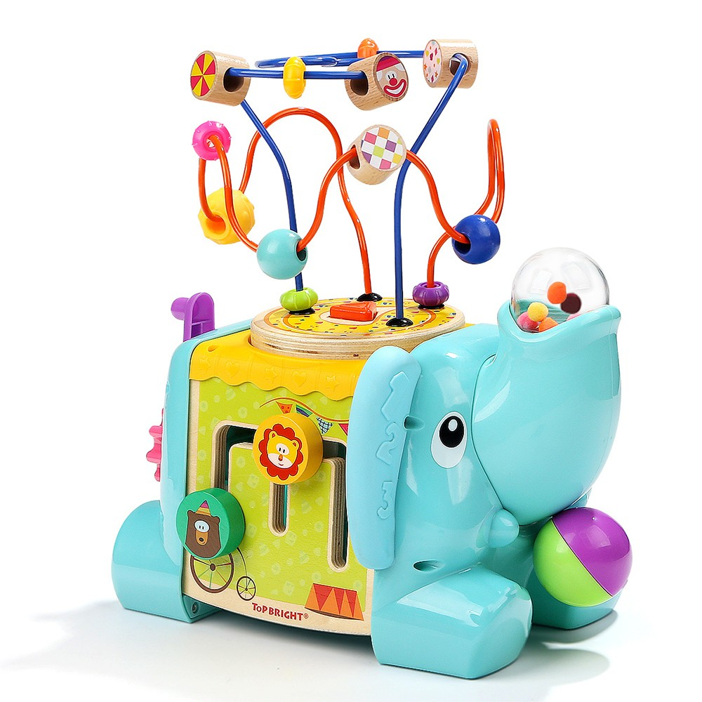 Topbright 5 in 1 Elephant Activity Cube 120384