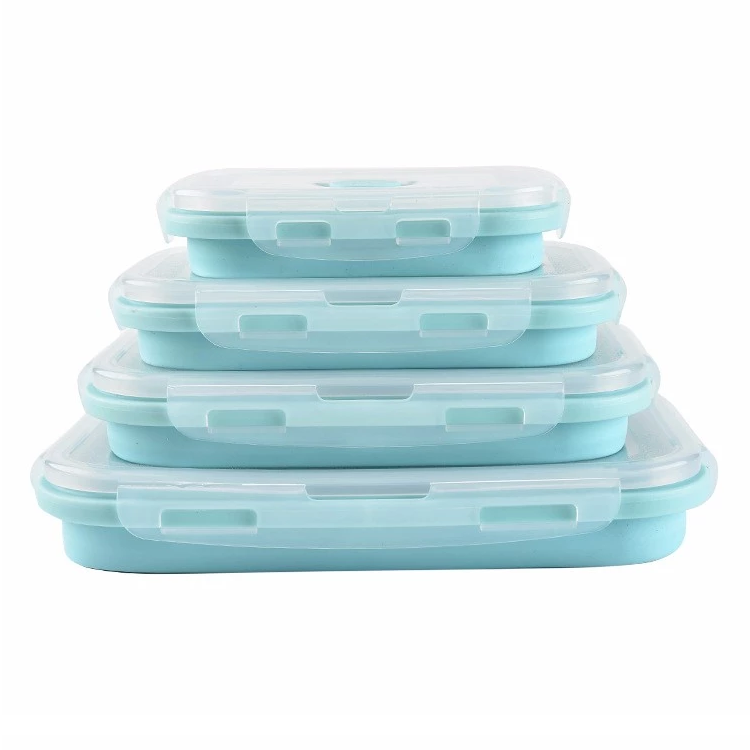 Silicone Collapsible Food Storage Lunch Box With Lid Set of 4 Manufacturers, Silicone Collapsible Food Storage Lunch Box With Lid Set of 4 Factory, Supply Silicone Collapsible Food Storage Lunch Box With Lid Set of 4