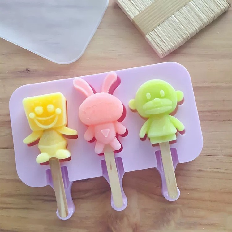 Cartoon silicone ice cream mold-HY-SI-06 Manufacturers, Cartoon silicone ice cream mold-HY-SI-06 Factory, Supply Cartoon silicone ice cream mold-HY-SI-06