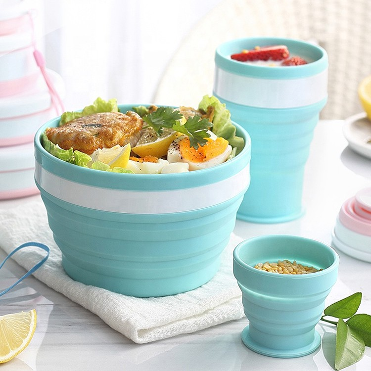 silicone Collapsible Tableware set-HY-TW-02 Manufacturers, silicone Collapsible Tableware set-HY-TW-02 Factory, silicone Collapsible Tableware set-HY-TW-02