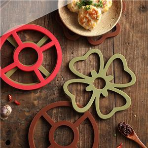 Flower Shape Silicone Foldable Coaster-HY-TM-06