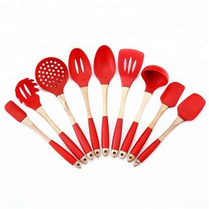 9Pcs silicone kitchenware Cooking Utensil Set-HY-KC-06