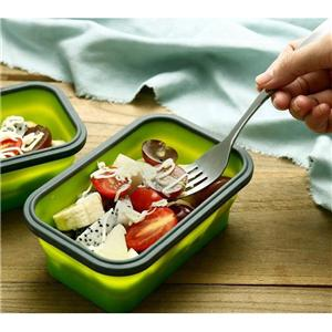 4 Pack Folding Portable Silicone Collapsible Container Food Storage Lunch Box-HY-LB-06