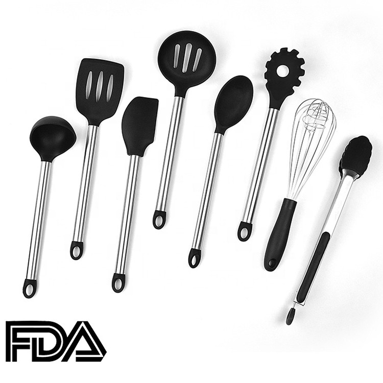 Top Seller 6 Piece Stainless Steel Handle Silicone Kitchen Cooking Utensils Set-HY-KC-10 Manufacturers, Top Seller 6 Piece Stainless Steel Handle Silicone Kitchen Cooking Utensils Set-HY-KC-10 Factory, Top Seller 6 Piece Stainless Steel Handle Silicone Kitchen Cooking Utensils Set-HY-KC-10