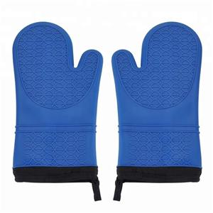 Heat Resistant Pot Holders Oven Mitts BBQ Grill Glove Silicone Oven Gloves-HY-SG-03