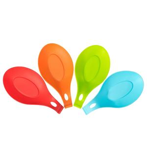 Heat Resistant Kitchen Utensils Spoon Holder Silicone Spoon Rest-HY-SS-01