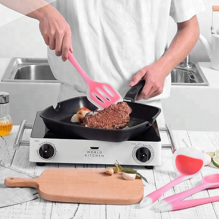 Semi-Transparent Kitchen Cooking Tools 9 Piece Silicone Kitchen Utensil Set-HY-KC-13 Manufacturers, Semi-Transparent Kitchen Cooking Tools 9 Piece Silicone Kitchen Utensil Set-HY-KC-13 Factory, Semi-Transparent Kitchen Cooking Tools 9 Piece Silicone Kitchen Utensil Set-HY-KC-13