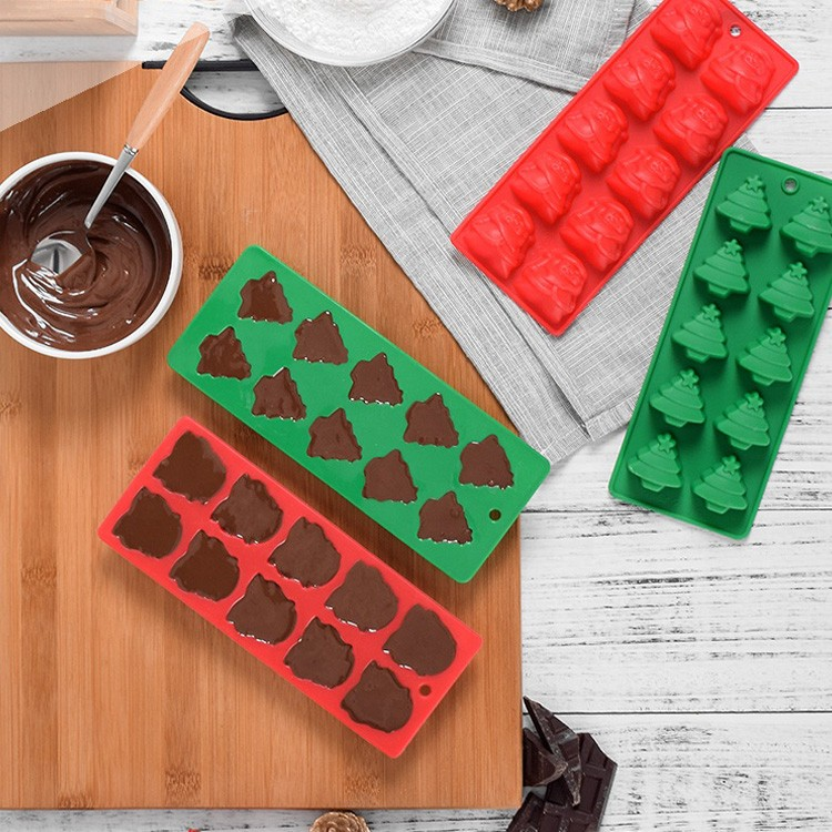 Christmas Tree Santa Claus Candy Sugar Mould Silicone Chocolate Mold Tray-34 Manufacturers, Christmas Tree Santa Claus Candy Sugar Mould Silicone Chocolate Mold Tray-34 Factory, Christmas Tree Santa Claus Candy Sugar Mould Silicone Chocolate Mold Tray-34