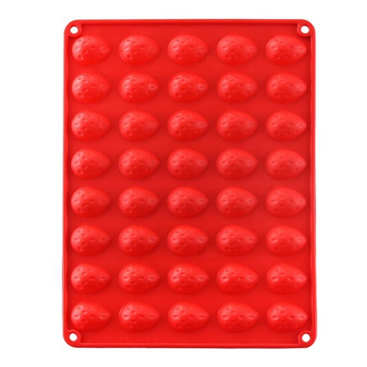 3D Strawberry Shape Silicone Cookies Moulds Chocolate Molds -HY-MD-37 Manufacturers, 3D Strawberry Shape Silicone Cookies Moulds Chocolate Molds -HY-MD-37 Factory, 3D Strawberry Shape Silicone Cookies Moulds Chocolate Molds -HY-MD-37