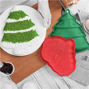 FDA Christmas Tree Cake Mould Silicone Baking Mold-43