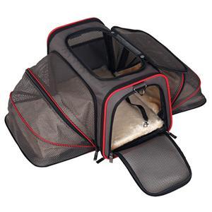 확장 가능한 휴대용 부드러운 항공 여행 애완 동물 캐리어 가방