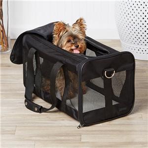 휴대용 항공 여행 소프트 양면 애완견 캐리어 가방