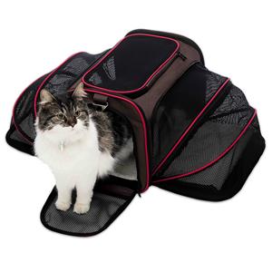 확장 가능한 빨 수있는 부드러운 양면 애완 동물 여행 캐리어