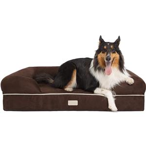 부드러운 메모리 폼 착탈식 덮개가있는 애완 동물 침대