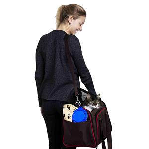 확장 가능한 소프트 사이드 항공 승인 된 애완 동물 캐리어
