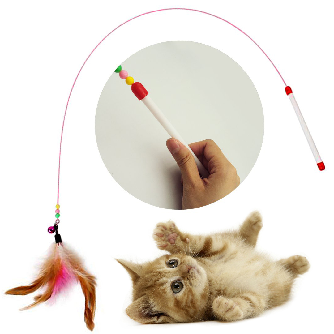 cat interactive exercise toy cat charmer wand cat teaser feather wand