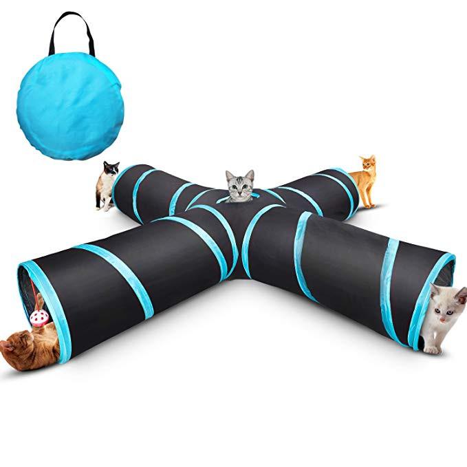 애완 동물 터널 튜브 3 방법 고양이 터널 고양이 재생 큐브 터널 고양이 접을 수있는 터널