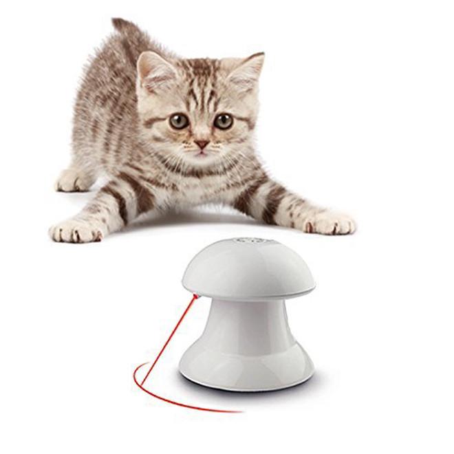 제조 업체 도매 자동 회전 고양이 레이저 장난감 대화 형 레이저 고양이 장난감