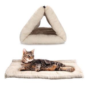 럭셔리 휴대용 휴대용 따뜻한 아늑한 고양이 동굴 애완 동물 침대 고양이 터널 침대