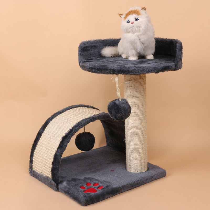 Multi-Level Cat Tree with Sisal Wrapped Scratcher Posts Cat Tower Furniture