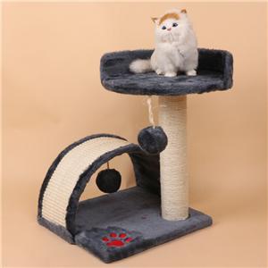 Sisal 래핑 된 Scratcher 게시물 Cat 타워 가구와 멀티 레벨 고양이 나무