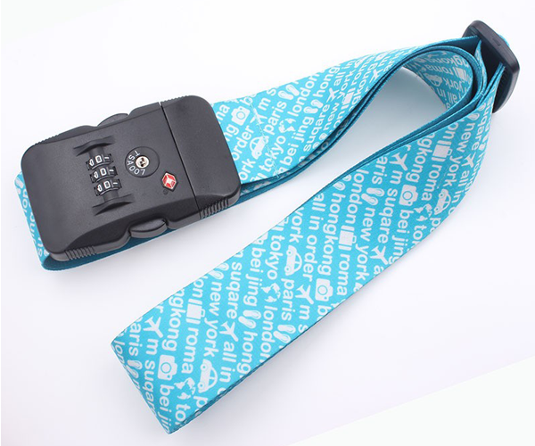 Sublimation Logo Luggage Belt TSA Code Lock